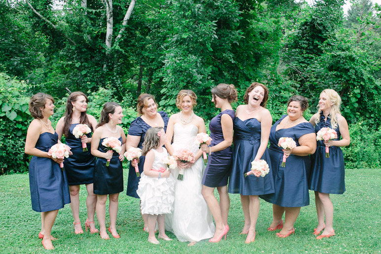 Willowdale Estate wedding bridal party