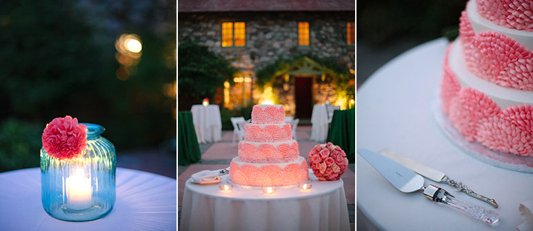 Willowdale Estate wedding reception cake