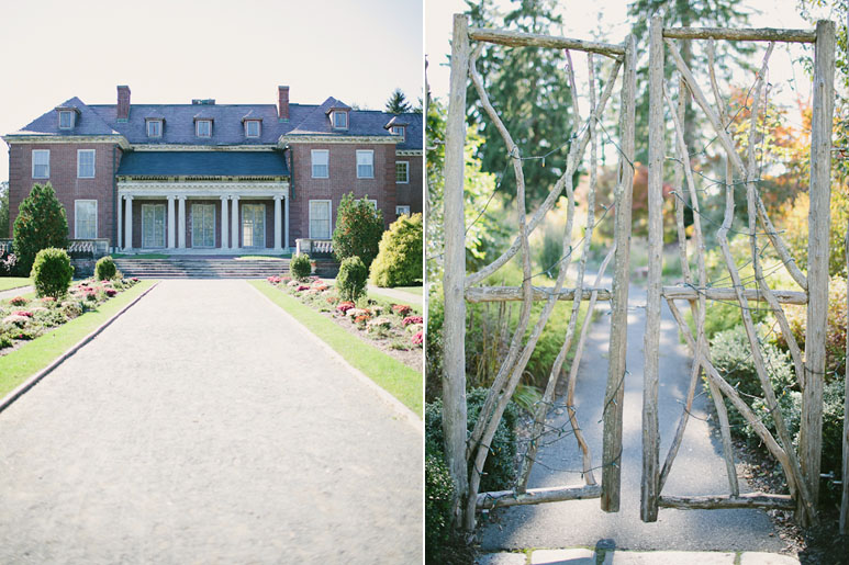 Mansion and garden gate at Wellesley Horticulture Society wedding