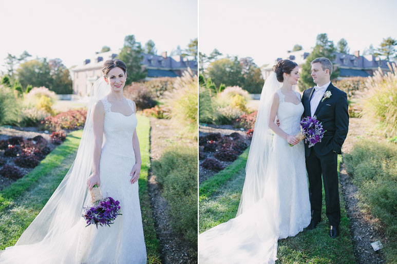 Bride and groom portraits at Massachusetts Horticultural Society wedding