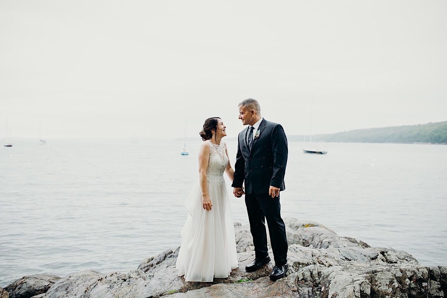 Couple at Rockport Harbor