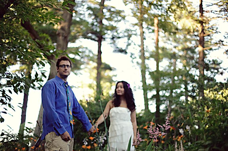 Maine wedding engagement session