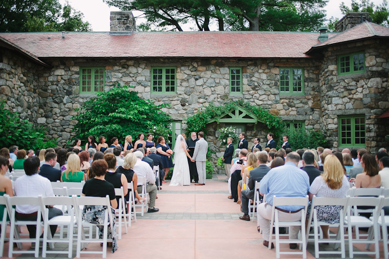 Wedding ceremony at the Willowdale Estate