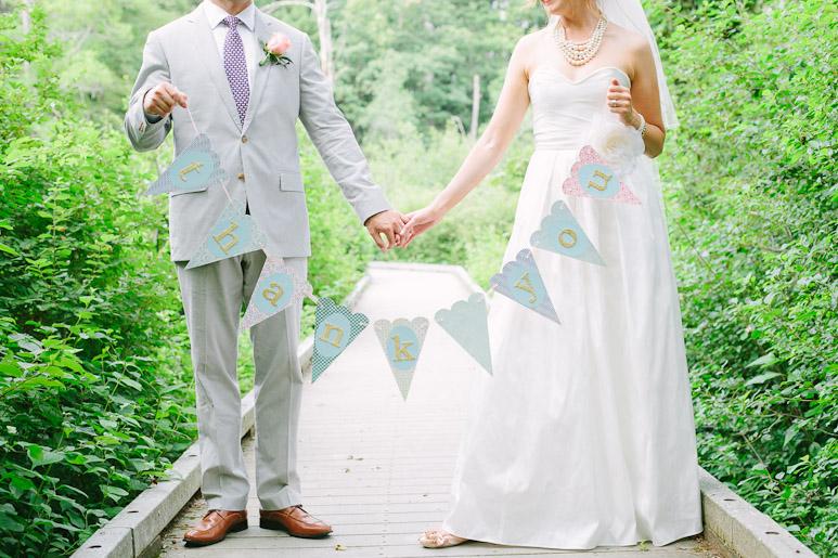 Thank you banner wedding photo