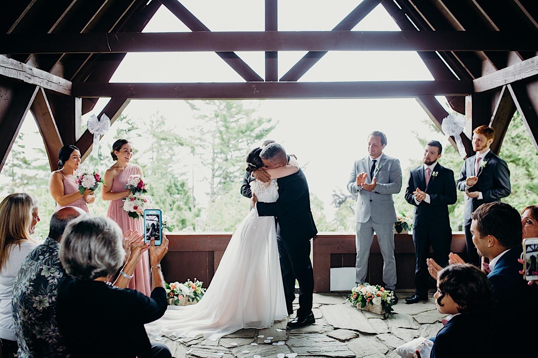 Rockport Maine wedding ceremony